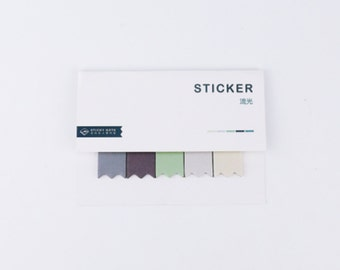 Cool Neutrals Ombre Sticky Notes, Notepad, Mini Notepad, Post It - PJ212