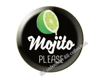 resin cabochon is 25 mm mojito please paste
