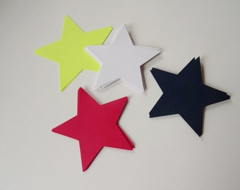 25 Assorted Card Stock Star Cut Outs sold as destash seconds as is