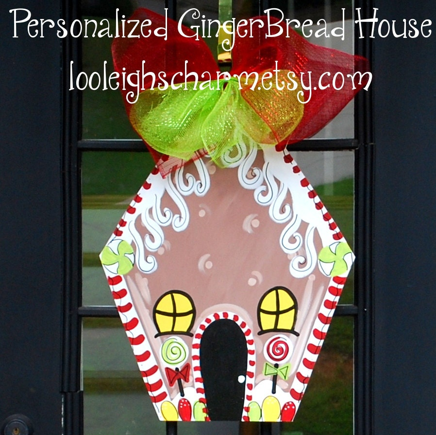 🔎zoom  sc 1 st  Etsy & Christmas Door Hanger Gingerbread House Decor Christmas