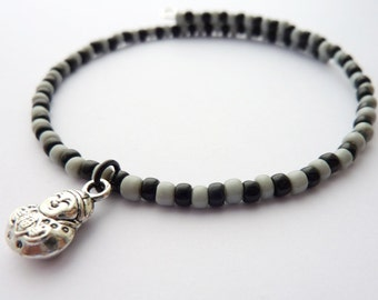 Bead Bracelet - Beaded Bracelet - Buddha Bracelet - Best Friend Gift - Beaded Bangle - Stacking Bracelet - Charm Bracelet