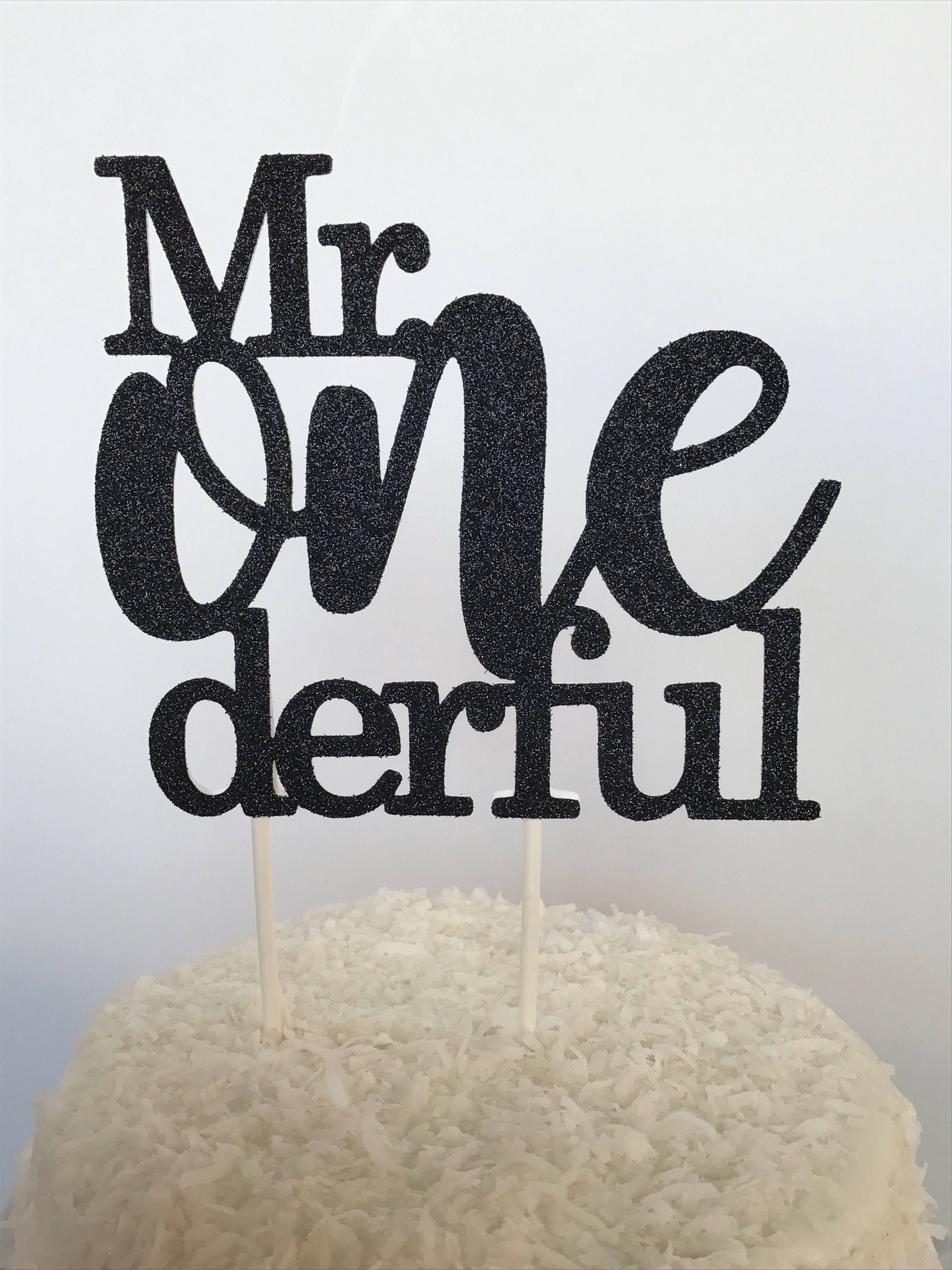 Mr. Onederful Cake Topper Boy First Birthday Cake Topper Mr.