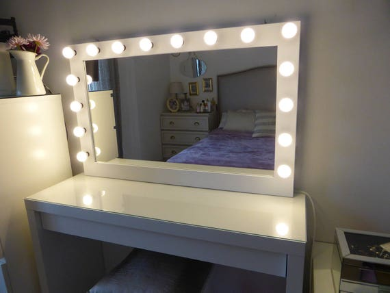 Xl Hollywood Vanity Mirror 43 X 27 Makeup Mirror