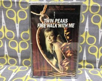 Sealed Twin Peaks Fire Walk With Me by Angelo Badalamenti Cassette Tape Original Soundtrack Vintage David Lynch