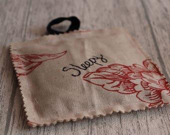 Sleepy, Lavender Bag, Lavender Sachet, Square Lavender Bag, Lavender Pillow, Lavender Gift, Scent Bag, Made in England, Self Care Gift