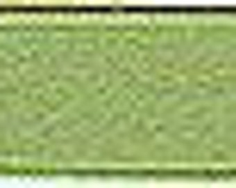 Olive Green Silk Satin Ribbon, Double-Faced - 1/4 Inch - 6mm - Sold by the Yard