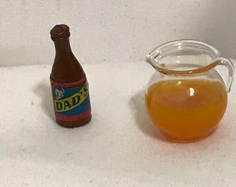 """Dollhouse Miniature 1"""" Scale Juice & Soda ((SP)"""