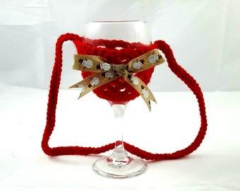 Wine Glass Holder, Wine Glass Necklace, Christmas, Wine Necklace, Bachelorette Party, Wine, Necklace, Wine Glass, Wine Glass Lanyard, Funny