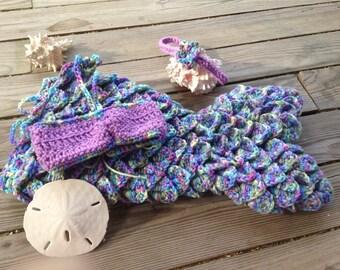 Baby Mermaid Outfit, Baby Mermaid Tail, Baby Mermaid Costume, Mermaid Tail Newborn, Mermaid Baby Costume, Mermaid Costume Baby, Mermaid Baby