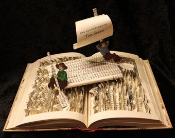 Tom Sawyer Book Sculpture