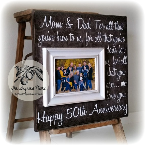 Golden Wedding Anniversary Gift Ideas For Parents: Parents Anniversary Gift 50th Anniversary Gifts For All That