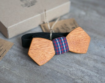Wooden bow tie, yellow wood bow tie, wooden bowtie, tartan tie wedding Groomsmen bowtie  gifts, Boyfriend gift, Gifts for Him, Personalized