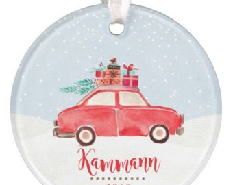 Personalized Christmas Ornament, Car Ornament, Christmas Car  Ornament, Ryelle, Wedding Ornament, Chistmas Ornament, Truck Ornament, Baby