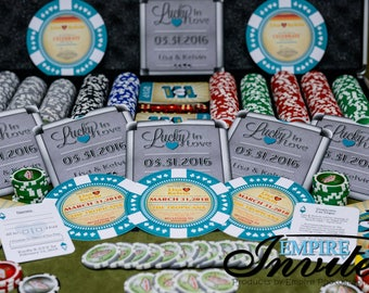 Poker Chip wedding Invites - Custom made las vegas themed wedding invites | Handmade in Canada by  ---- www.empireinvites.ca ---