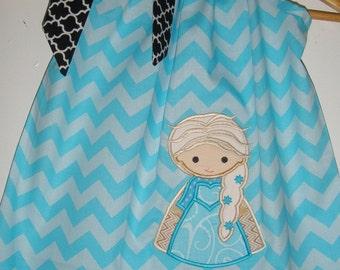 Elsa dress, Queen Elsa dress, Disney Frozen dress, frozen pillowcase dress,  6,12,18 months 2t,3t,4t,5t,6