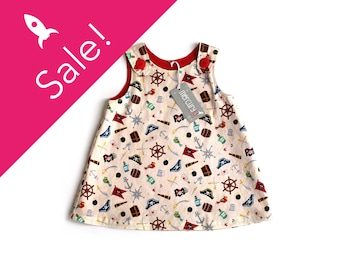 PIECES OF EIGHT! Baby dress, Size 6-12 months