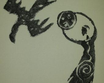 Original Monotype | Crow | Tribal