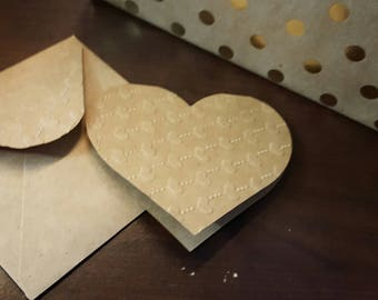 Hand Embossed Cards With Matching Envelopes
