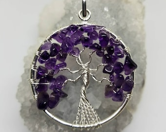Amethyst Tree of Life Wire Wrapped Pendant