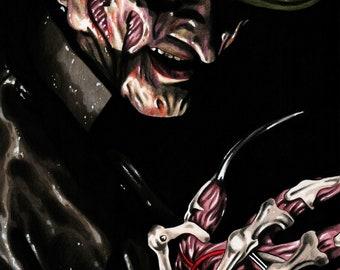 Freddy Krueger A4 Drawing Print