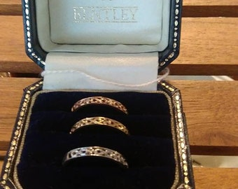 Three 9ct gold rings with Diamonds