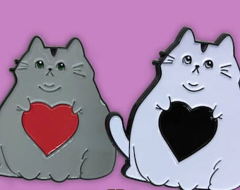Fat Cat Love Enamel Pins