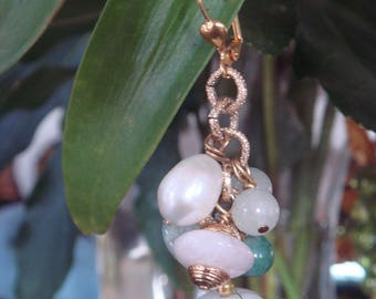 The basket of jade: lovely earrings match the necklace.