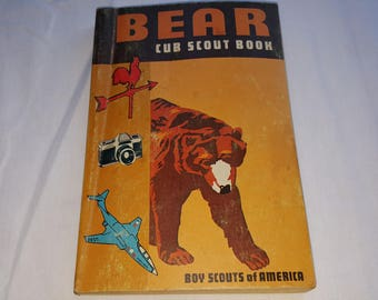 Bear Cub Scout Book Boys Scouts of America Handbook Guide Book Manual 1970 edition
