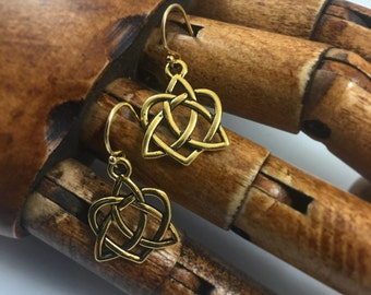 Gold Silver Celtic Love Knot Earrings Outlander Jewelry Mother's Knots Christmas Gift Her Mom Heart Valentine Infinity Eternity Irish Jamie