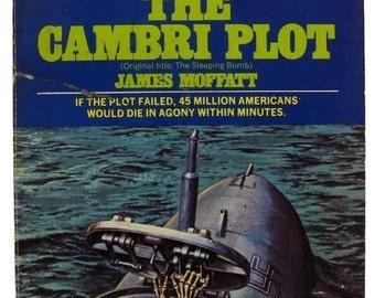 Vintage 1970s Suspense Fiction Novel / The Cambri Plot / James Moffatt / Vintage Book /  70s Paperback / Thriller Novel