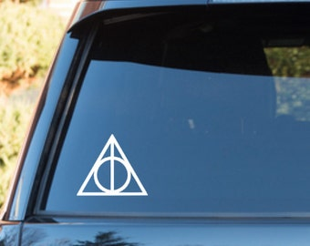 Deathly Hallows, Harry Potter car window decal