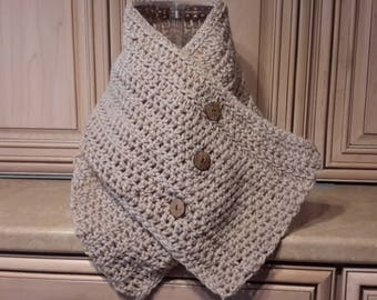 A hand knit neck cowl   End of Season Sale