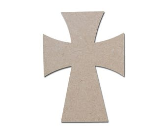 Unfinished Wood Cross Wooden Paintable MDF Craft Crosses Cut Out part MC15-125    10.75 x 15 inch