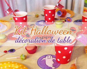 Halloween Kit - table decoration for 4 children
