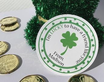 Four Leaf Clover, St Patrick's Day, Shamrock, St Patrick's Tag, Lucky, Shamrock Tag, Lucky Tag, School St Patrick's, St Patty Day, Tag