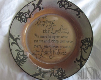 Scripture Art Steadfast Love Plate Home Decor & Scripture plate | Etsy