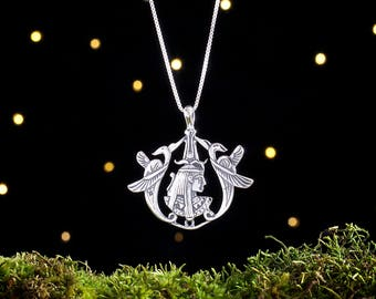 Sterling Silver Egyptian Goddess - (Pendant or Necklace)