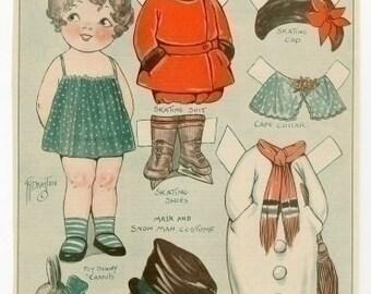 E-Pattern Vintage Dolly Dingle Paper Doll And Cross Stitch Pattern 18