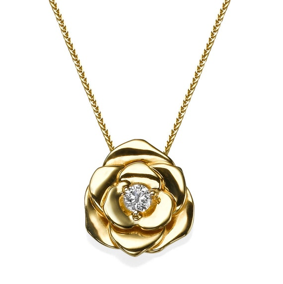 heart rubystella necklace rose gold floating pendant rg