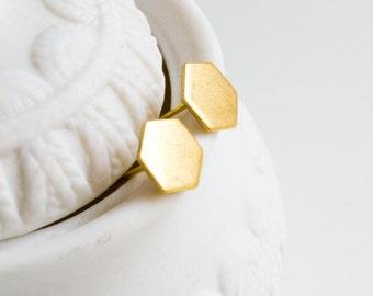 Geometric Octagon Stud Earrings