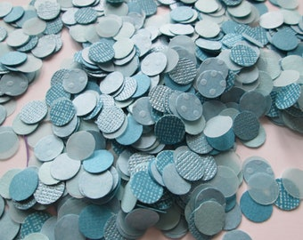 Paper Confetti >> shades of blue, confetti, tablescape, party accessories, party supplies, party decor