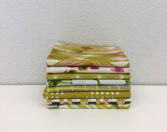 Cotton + Steel Fat Quarter Set in Yellow/Mustard - 8 Fat Quarters