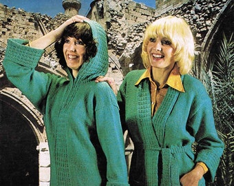 Lady's Jacket Cardigan and Hooded Zipped Sweater Jumper Pullover - Argyll  871 size - 86 to 97 cm (34 to 38 inches) Vintage Knitting Pattern
