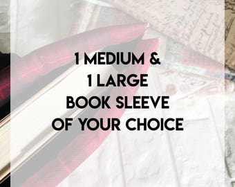 Option #6 Book Sleeve Of Your Choice, Protector, Pouch