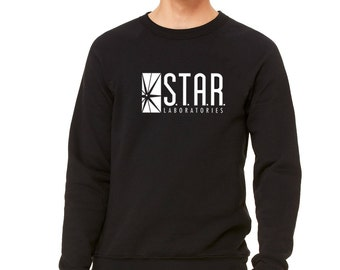 STAR Labs Shirt STAR Laboratories Flash, The TV Series S.T.A.R. Labs Crew Neck Soft Unisex Sweatshirt Pullover Sweater Gift Present