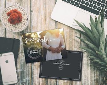 "Custom Flat Wedding Save The Date Cards (Set of 100) 5"" x 7"""