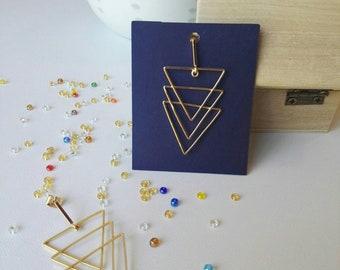 Gold trio earrings
