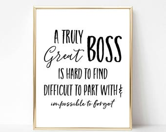 Digital Boss Quote Gift | Best Boss Quote Gift | Boss Appreciation Day | Boss's Day | Boss Gift | Boss Printable