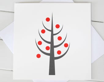 Simple Scandi Christmas Tree Xmas Blank Card