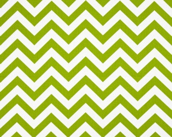 1+ yards REMNANT Fabric Premier Prints Zig Zag Chartreuse Chevron Upholstery Fabric,  Cotton Twill, Lime Green Chevron Fabric DESTASH